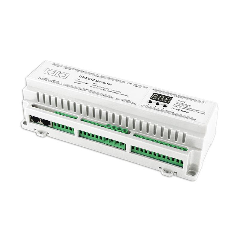 40路DMX512恒压型解码器(BC-640-DIN)