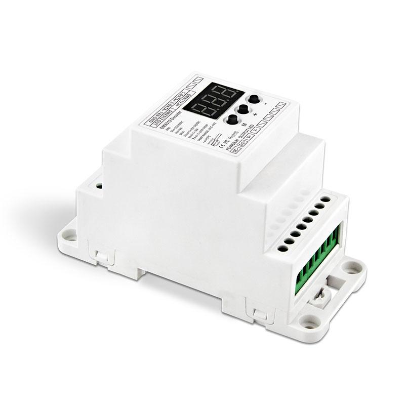 导轨式单路DMX512恒压解码器(BC-831-DIN-RJ45)