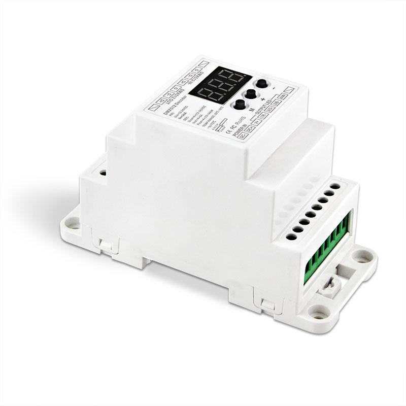 导轨式4路DMX512恒压解码器(BC-834-DIN)
