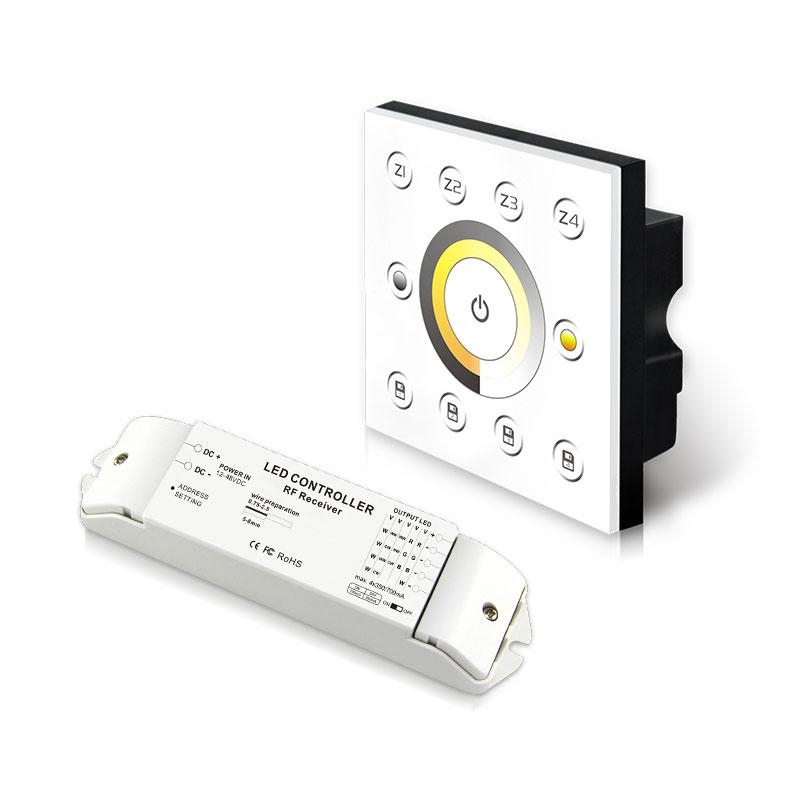 无线多区恒流型色温控制面板(P6X+R4-CC-2.4G)