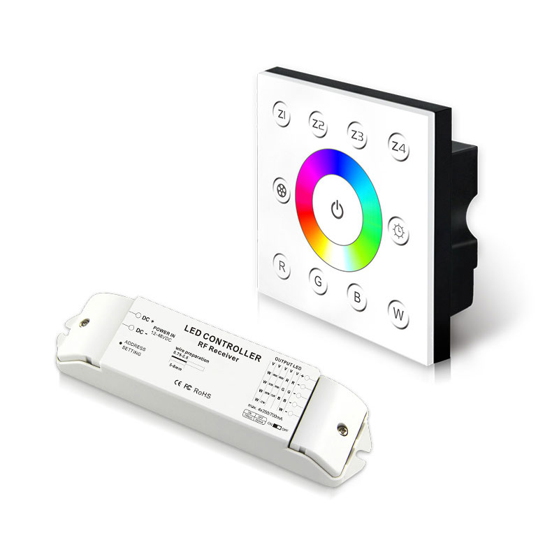 无线多区恒流型RGBW控制面板(P8X+R4-CC-2.4G)